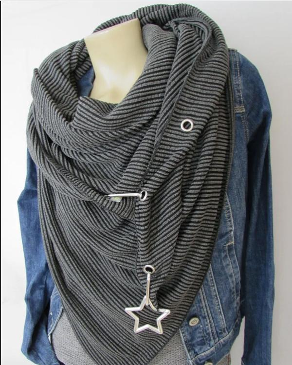 Corduroy Casual Scarf And Shawl