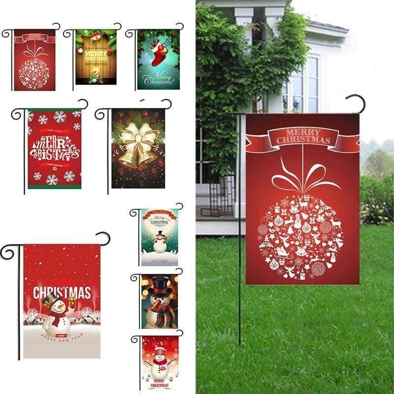 Garden Flags Thanks Giving/Halloween/Christmas Decorative Banner Double-Sided Printing Waterproof Yard Flag Blessings(12x18in)