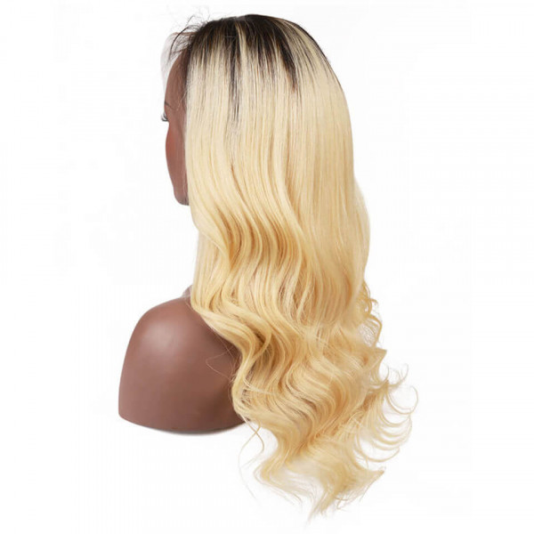 Blonde Body Wave Lace Front Wigs Pre-Plucked