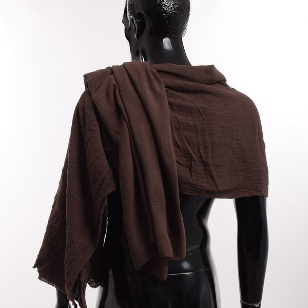 1x Good Quality Medieval Man Scarf Brown Wrap Cloak Primitive Shoulder Cowl S/L