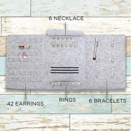 Rolling Portable Jewelry Storage Bag