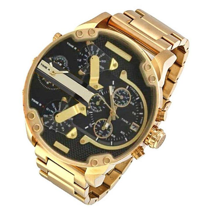 Buy 2 Free Shipping-2.0 Quartz Stainless Steel and Leather Chronograph Watch
