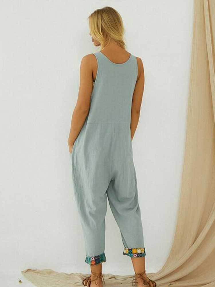 Women Ethnic Printed Casual Jumpsuit