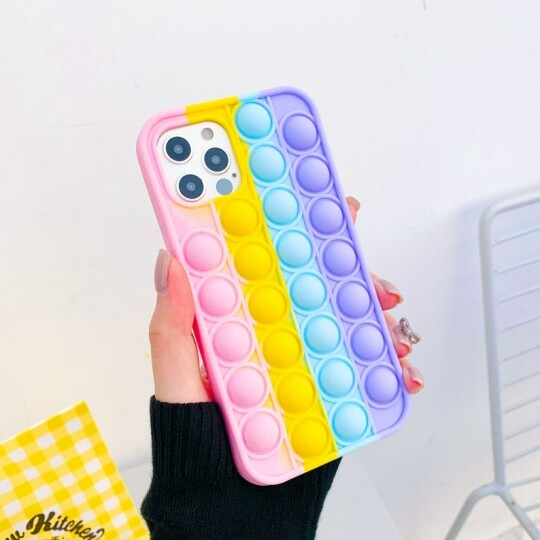 Rainbow Color Shockproof Silicone Phone Case