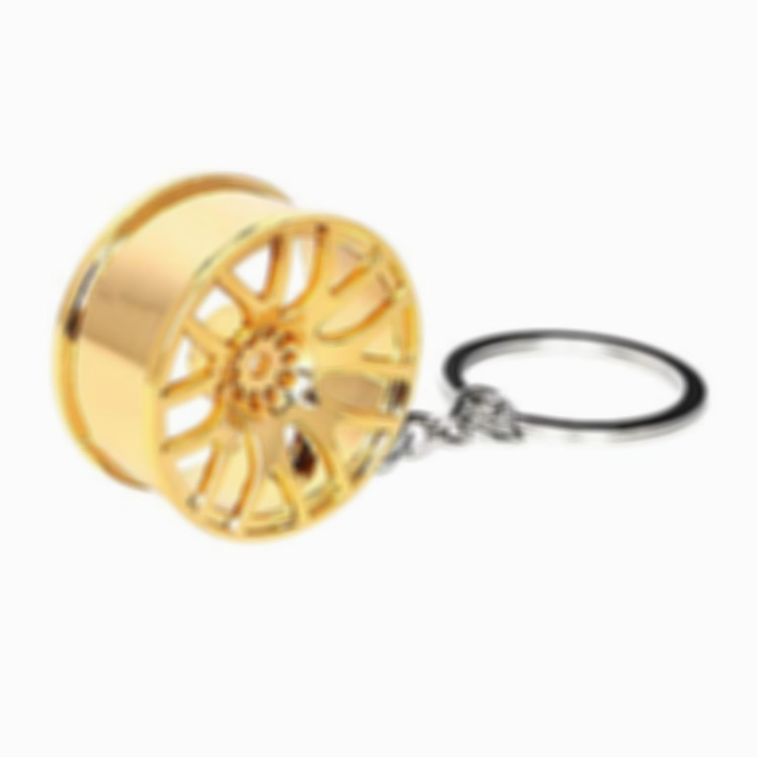 Lmfens - Car Wheel Rim Metal Keychain