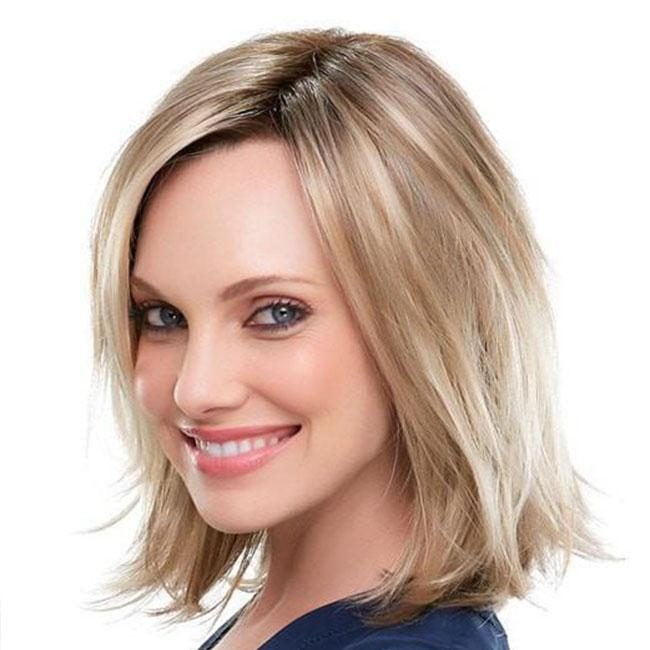 KAMI 041 Sleek Layered Collar-Length Straight Wig
