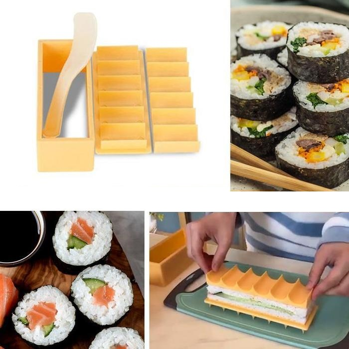 Sushi Making Kit 3 in 1 Homemade Sushi Heart Circle and Square