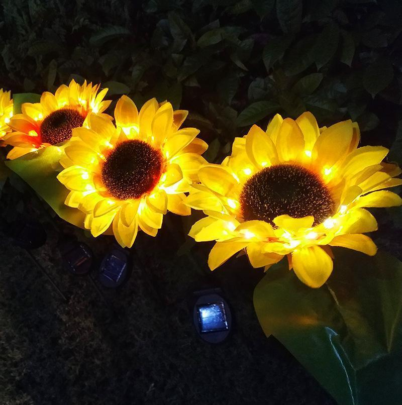 Artificial sunflower lantern