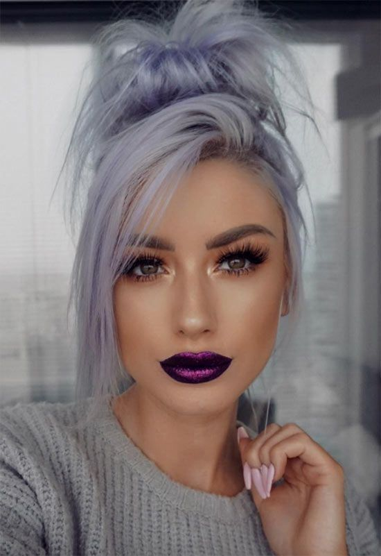 2020 New Gray Hair Wigs For African American Women Updo Wigs Platinum Blonde Grey Coloring Gray Hair Red Black Ponytail Wig Highlights And Lowlights To Cover Gray Hair