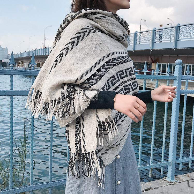 Fall and winter pashmina scarf tassel thickened national style scarf cashmere scarves shawls ladies scarf-1.9