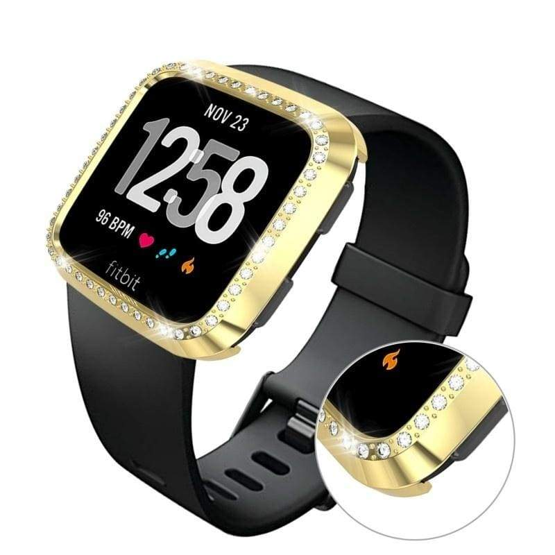 7 Colour Smart Watch Accessories For Fitbit Versa Lite PC Diamonds Case Cover For Fitbit Versa Band Screen Protector Watch Shell