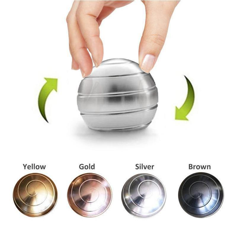 Decompression Continuous Rotating Spherical Finger Gyroscope Toy