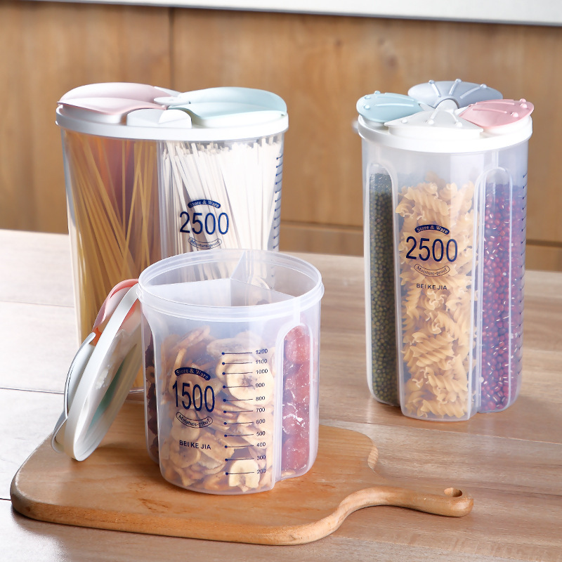 (Year-End Sale - 50% Off🔥) Rotating Kitchen Storage Tank Dry Food Storage Containers Cereal Strorage