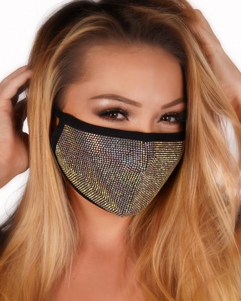 AB Rhinestone Face Mask with Filter