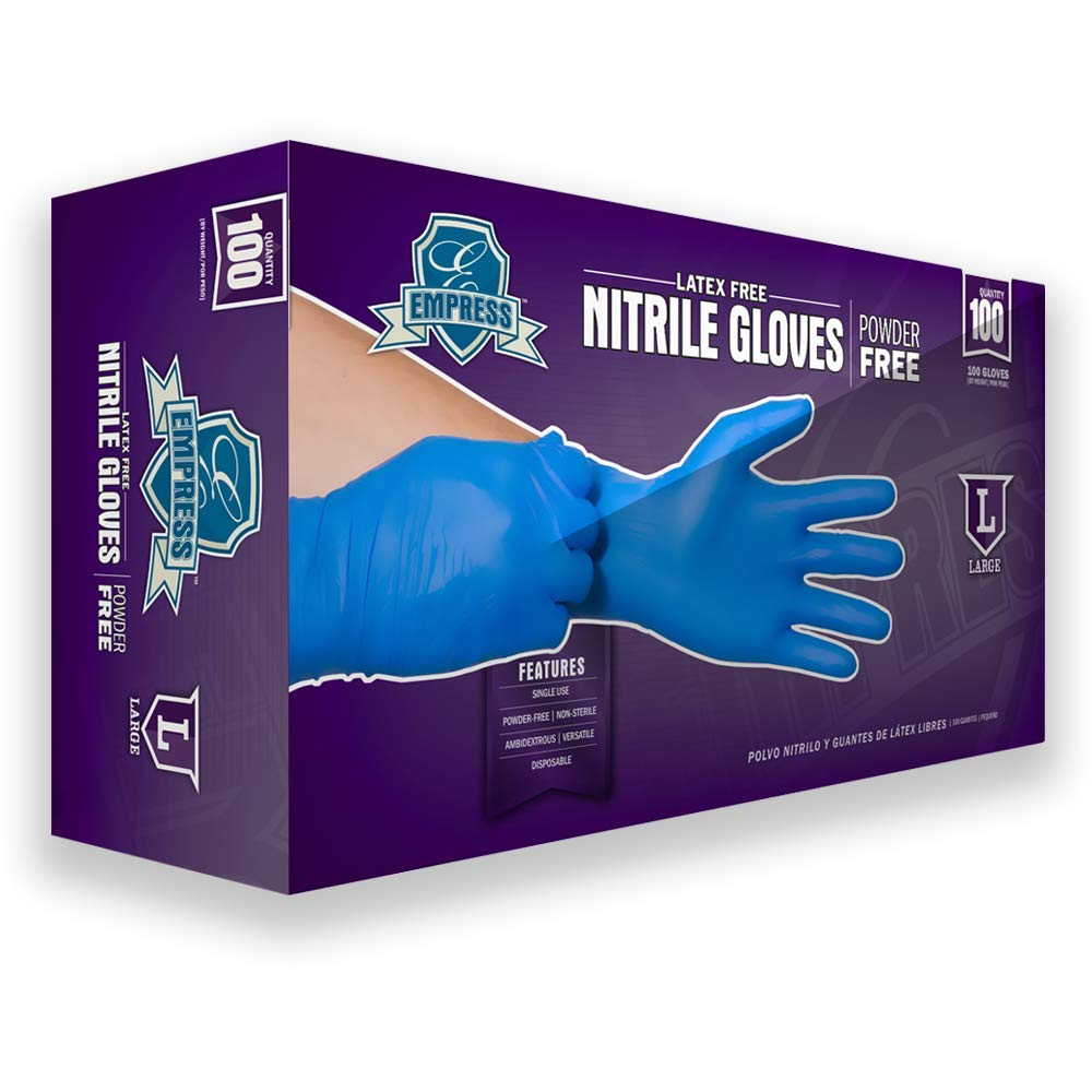 100 Pieces of Nitrile Gloves Latex gloves-Ship from USA