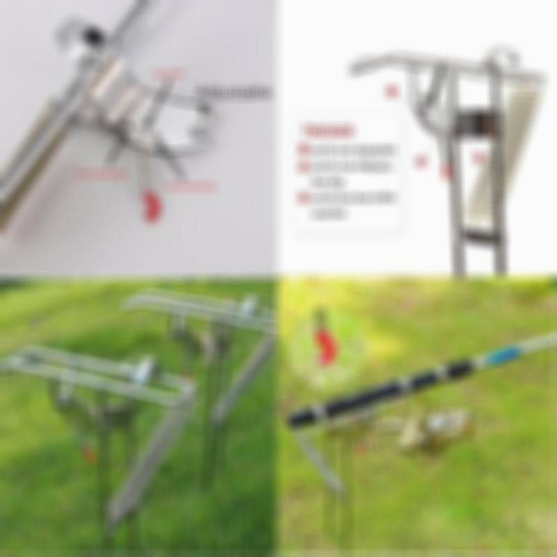 SKRTEN Dual Springs Loaded Stainless Fishing Rod Holder with Automatic Tip-up Hook Setter