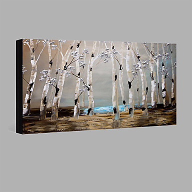 Oil Painting Hand Painted - Abstract Landscape Comtemporary Modern Stretched Canvas / Rolled Canvas