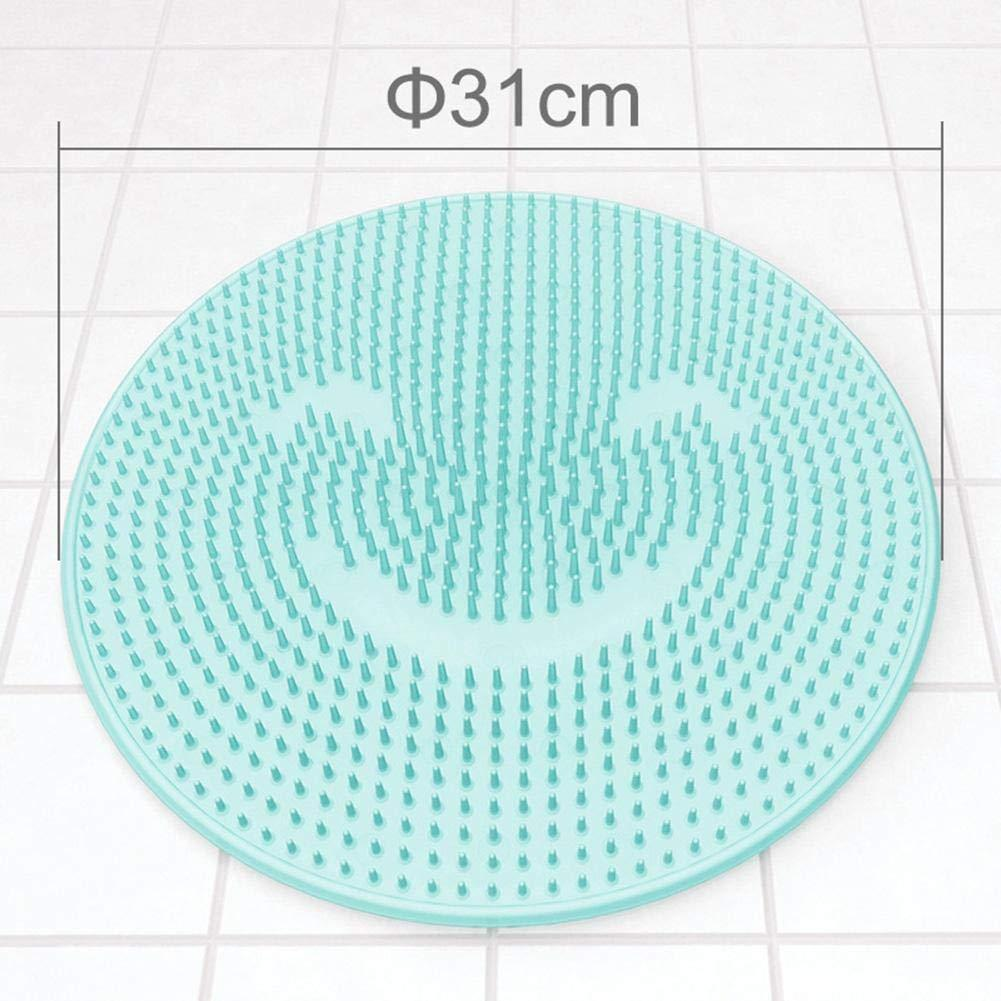 Bathroom Mat,Silicone Non-Slip Back Massage Pad,Foot to The Dead Skin Wash Brush Bathroom Suction Cup