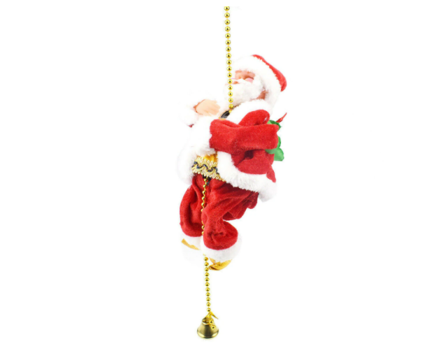 Electric Santa Climbing On Rope Indoor/Outdoor Christmas Gift Decorations