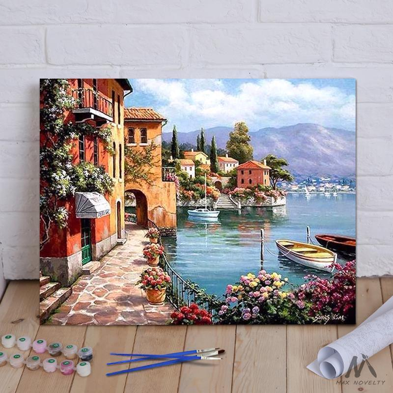 DIY Painting By Numbers - Seascape Resort (16