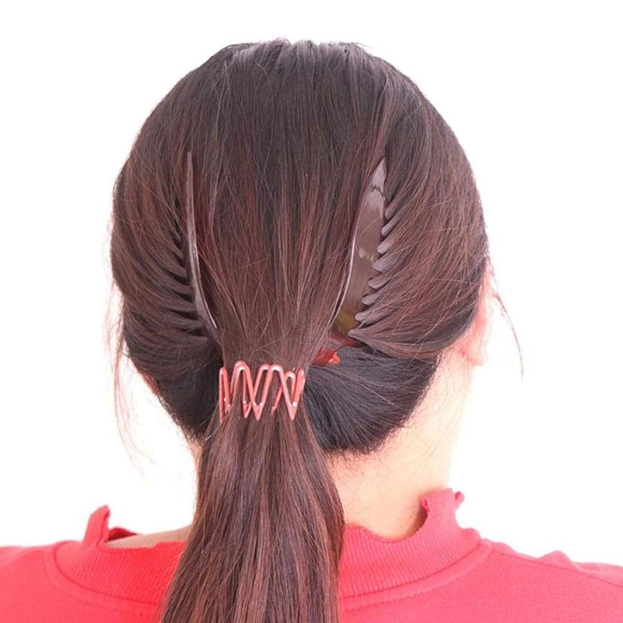 Girls Hair Comb Professional Elastics Ponytail Rubber Hair Braider Hair Accessories Styling Tool