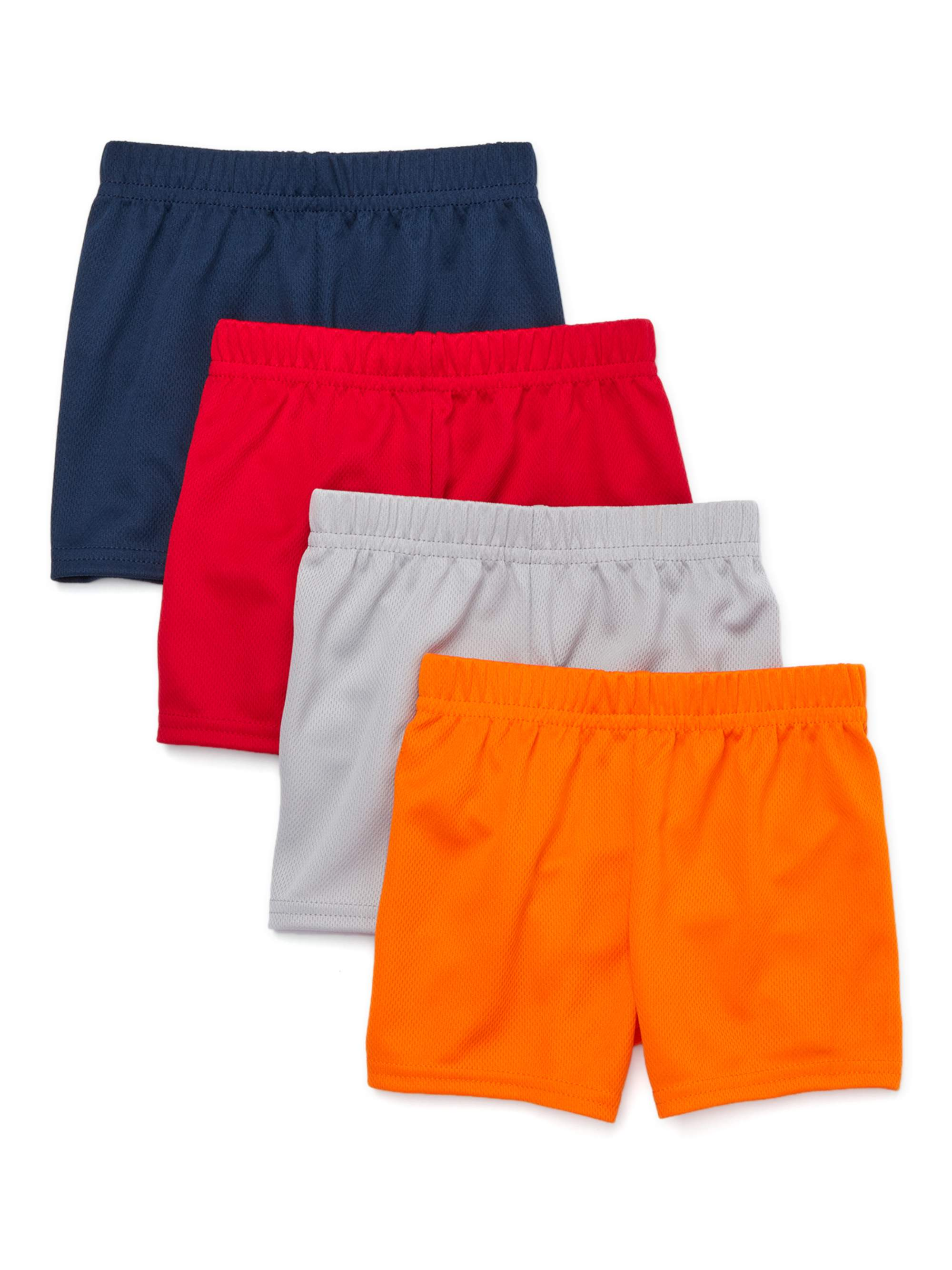 Garanimals Baby Boy Mesh Shorts Multi-Pack, 4pc