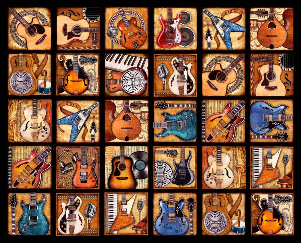 Classical guitar collection 500/1000pcs Puzzle for Adults