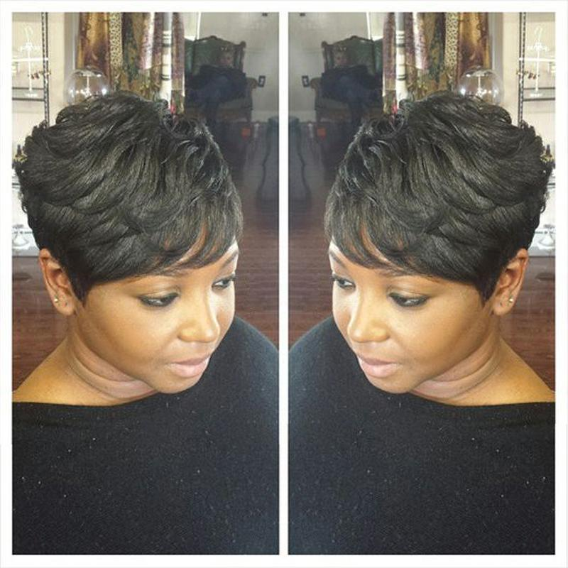 Luna 033 Short Layered Straight Wig for Black Women