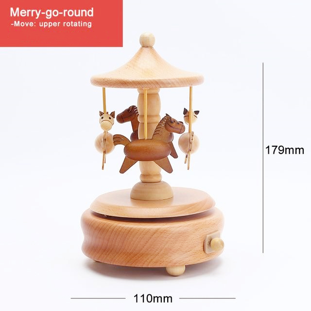 Hot Sale--CAPRICE™ Handmade Wooden Rotating Music Boxes(BUY 2 FREE SHIPPING)