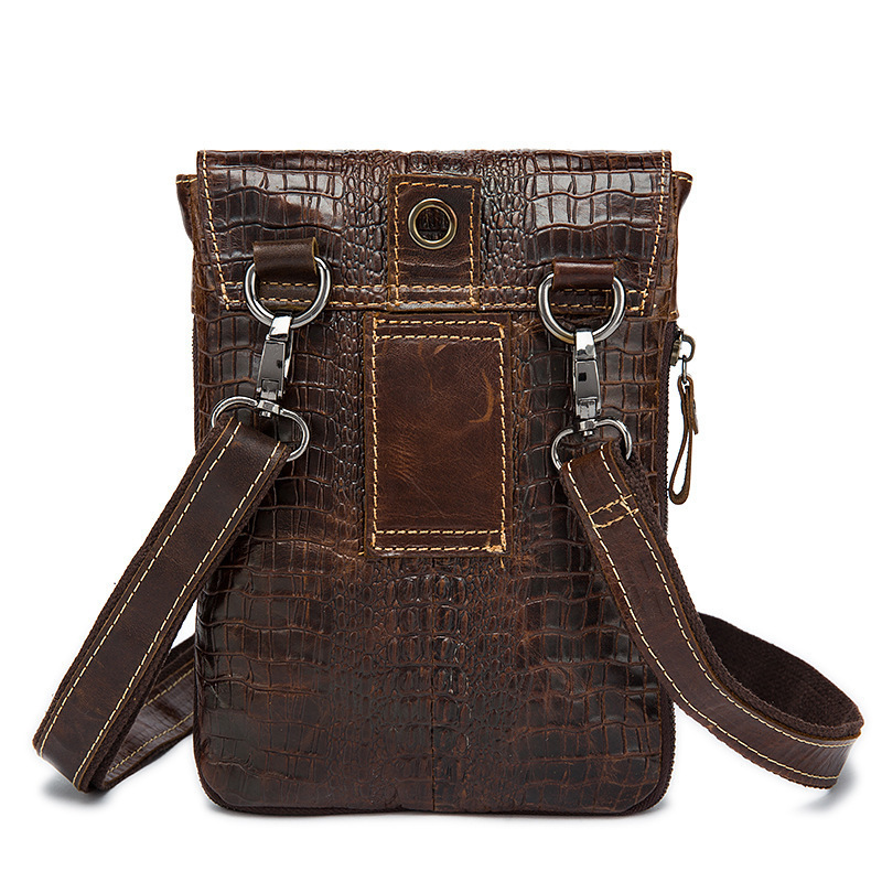 Men Crocodile Classic Shoulder Bag 2245D