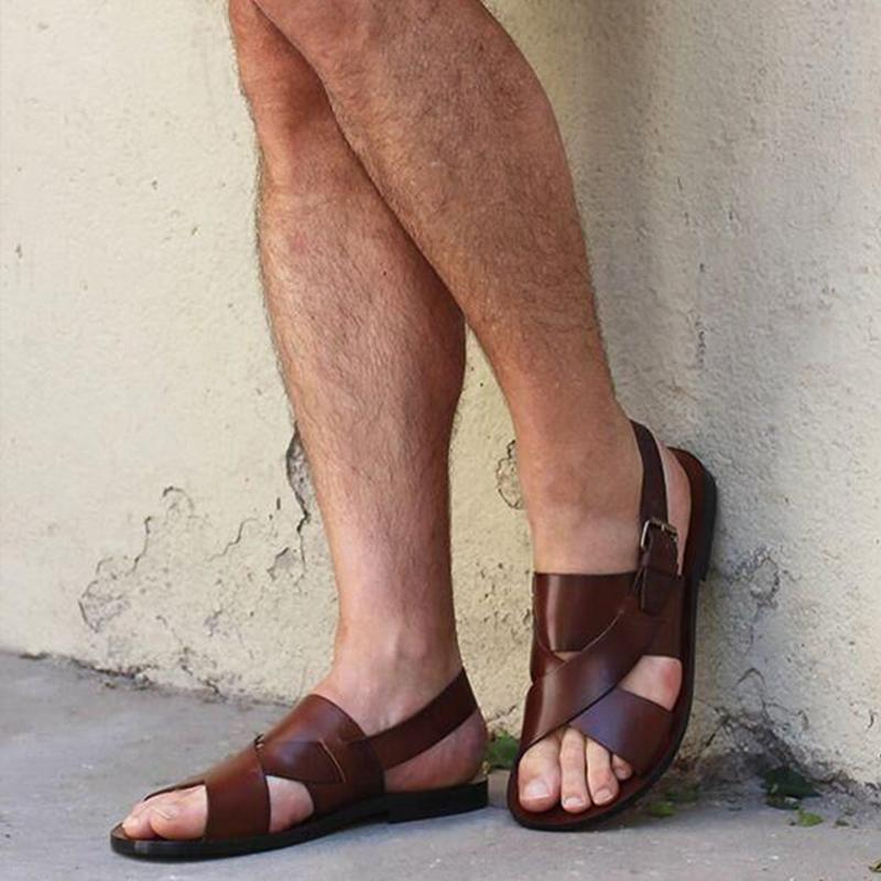 Men's Casual  genuine Leather Sandals