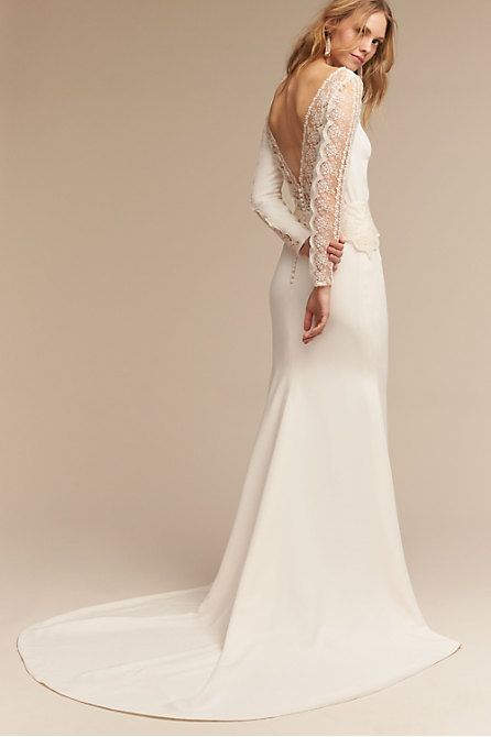 2020 New Wedding Dress Fashion Dress wedding dress with pockets mock neck formal dress