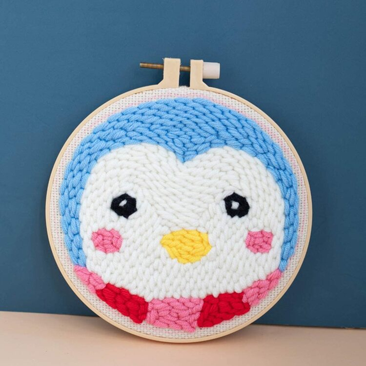 Penguin Punch Needle Embroidery Kit