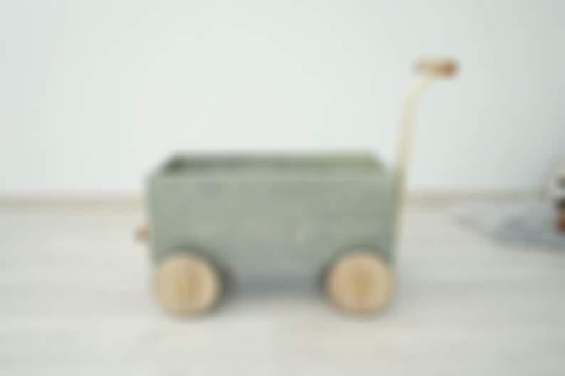Toddler Walker & Wagon - Wooden toy box