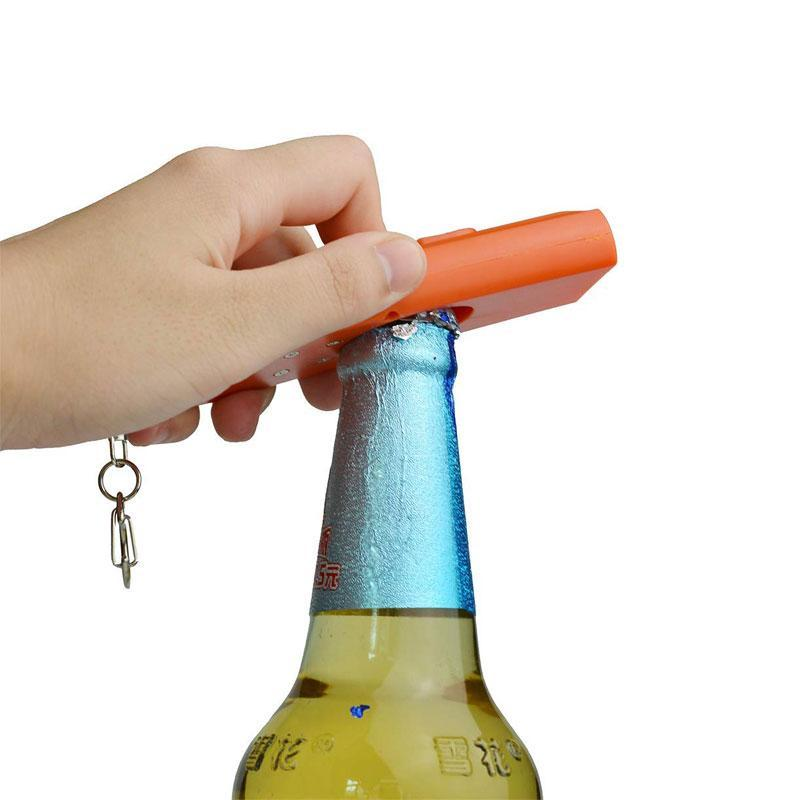 Flying Beer Bottle Cap Opener with Key Ring for Home Bar Party