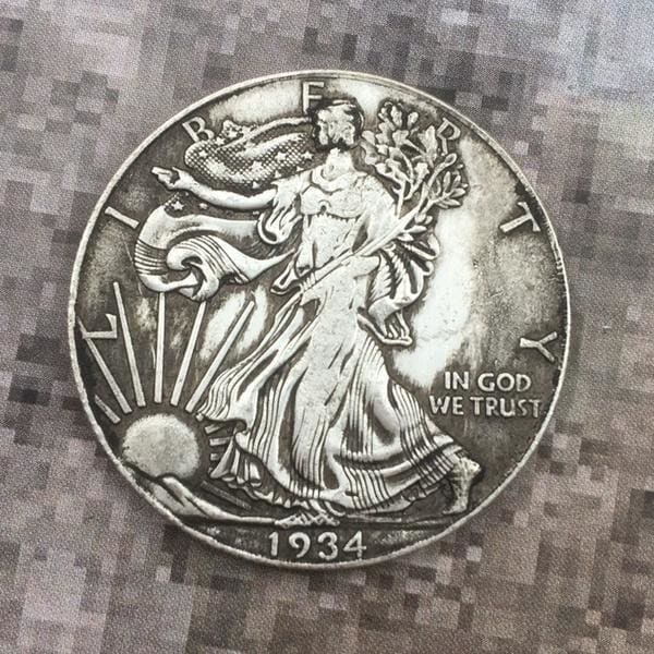US Liberty Coin Silver Eagle In Gold We Trust Collectible Souvenir Coins Brilliant Uncirculated