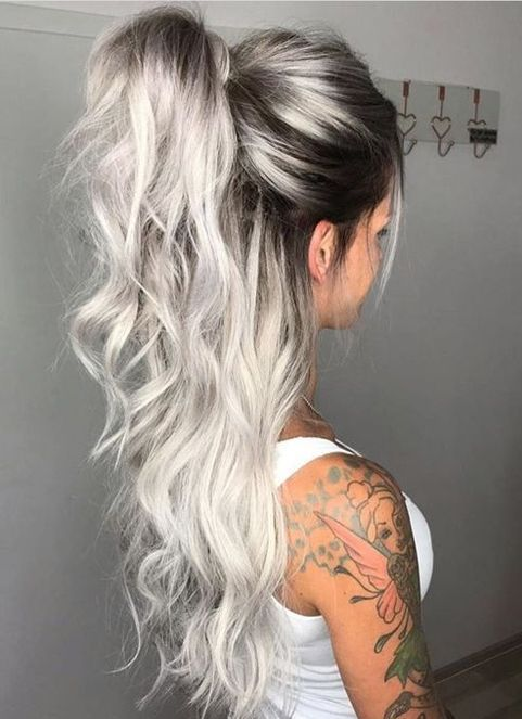 2020 New Gray Hair Wigs For African American Women Dolago Hair Silver Hair Older Woman Best Way To Hide Gray Hair Long Human Hair Wigs Frontal Bob