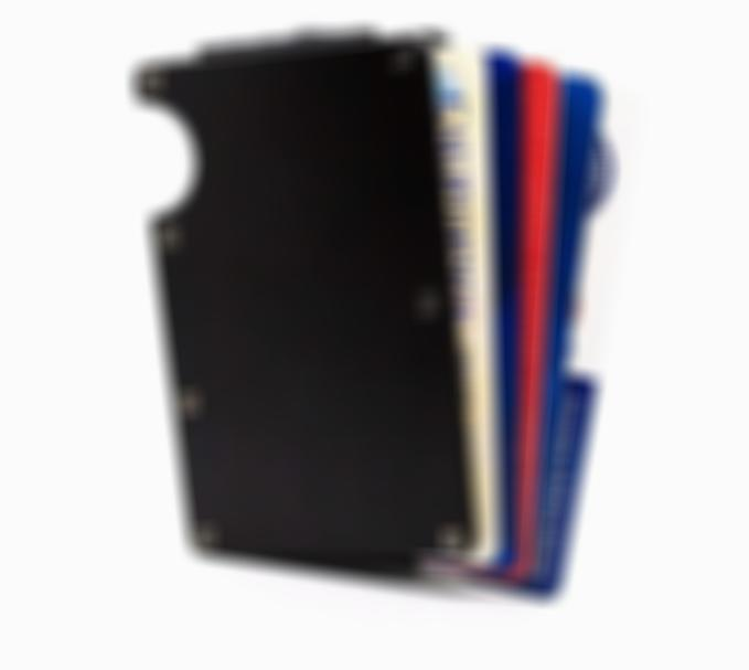Aluminum Wallet Minimalist With Money Clip Slim Wallet Travel Wallet For Credit Cards & More