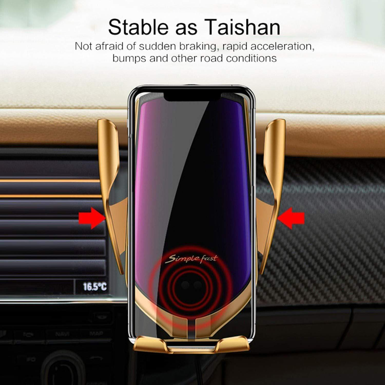 Car phone holder and charger (R2 wireless automatic sensor)