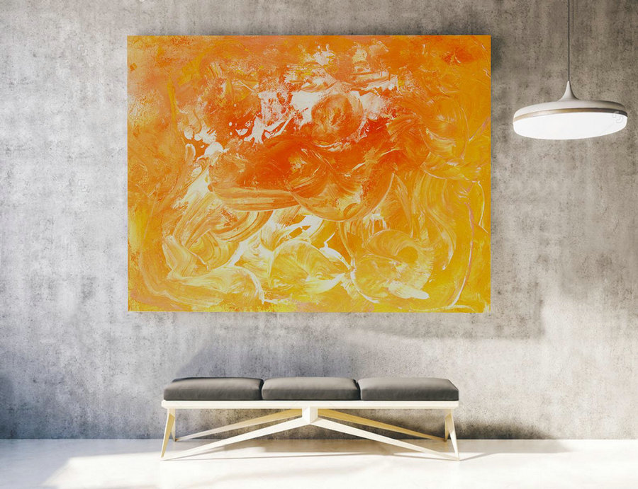 Contemporary Wall Art - Abstract Painting on Canvas, Original Oversize Painting, Extra Large Wall Art LAS013