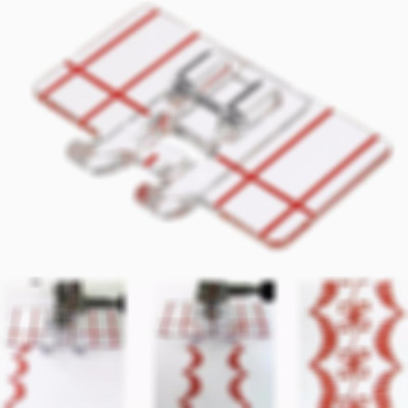 Parallel Stitch Snap-On Presser Foot for Low Shank Domestic Sewing Machine