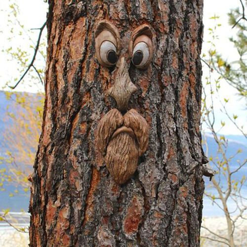 Bark Face Tree Monster Facial Features Decoration Easter Outdoor Creative Props