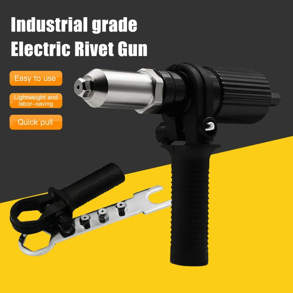 Professional Rivet Gun Adapter Kit with 4Pcs Different Matching Nozzle Bolts