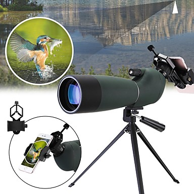 20-60 X 60 mm Monocular Porro Zoomable Night Vision in Low Light High Definition Fully Multi-coated BAK4 Camping / Hiking Hunting Fishing Rubber silicon Waterproof Fabric / Yes / Bird watching