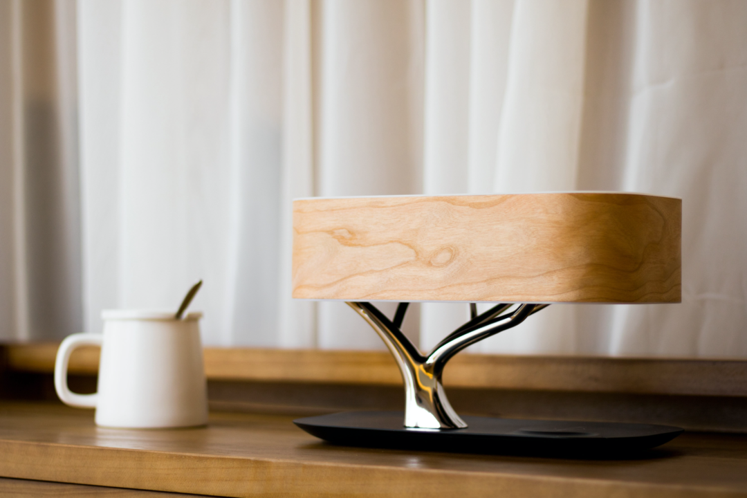 Tree Lamp - Bedside Table Lamp With Bluetooth Speaker & Wireless Charger—FREE SHIPPING
