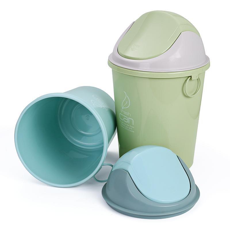 Plastic Trash Can Waste Bin Plastic Waste Bin with Lid trash can-1.20