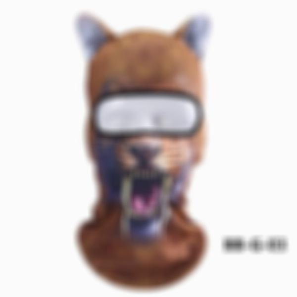 3D Animal Headgear Cycling Bicycle Skiing Full Face Mask(Buy 2 free shipping)