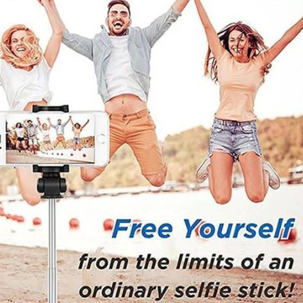 (🎄Early Christmas Sale🎄- Save 50% OFF) 3 In 1 Wireless Bluetooth Selfie Stick- Buy 2 Free Shipping