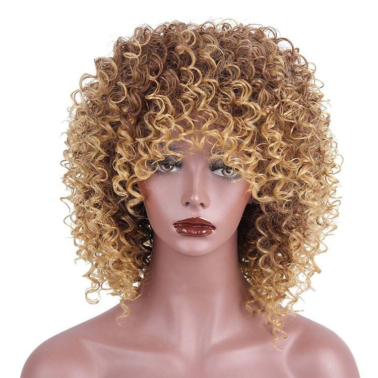 IMPROVED MALAYSIAN CURLY LACE  FRONT WIG BANGS