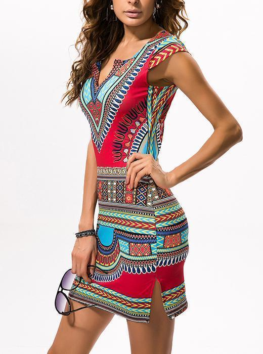 Ethnic printed Casual Dress